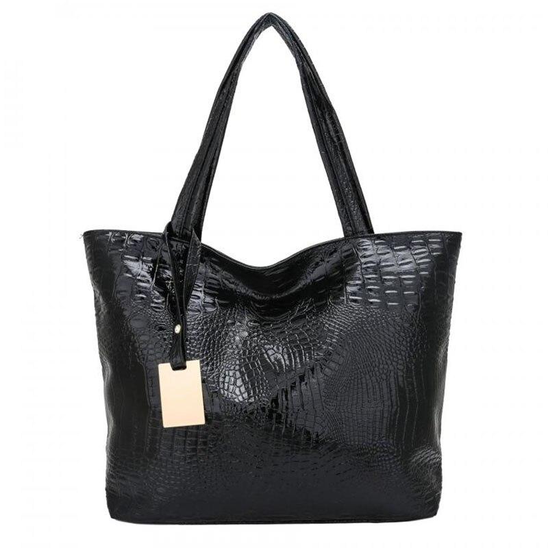 New Women's Leather Handbags Fashion Designer Large Capacity Crocodile Pattern Shoulder Bags Casual Crossbody Bags Female Tote