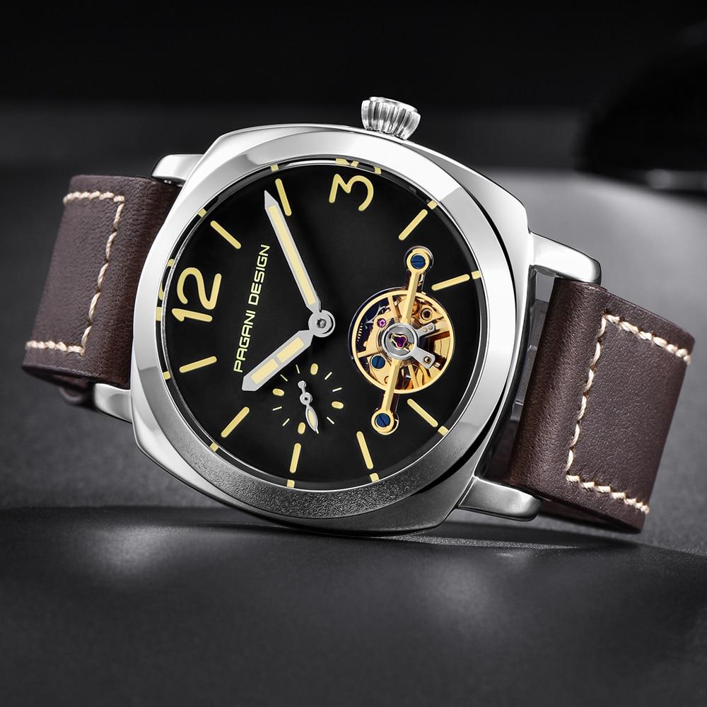 high quality PAGANI DESIGN Luxury Tourbillon Mechanical Watches Luminous Genuine Leather Fashion Casual Skeleton Automatic Watch free dropshipping (21)