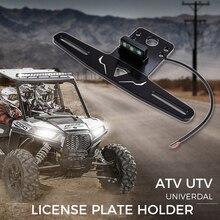ATV/UTV Universal Accessories Street Legal Rear License Plate Holder quad for Polaris RZR 1000 xp Sportsman for Can-am Maverick