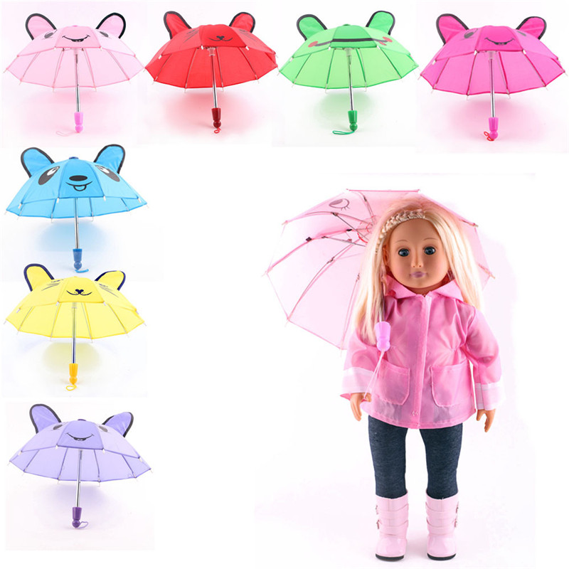 """Cute Umbrella for 18"""" 46cm American Girl Doll Accessories Clothes Play House Dressing Up Costume Kids Toys(China)"""