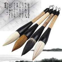 5 Styles Chinese Calligraphy Brush Pen Goat Hair Bamboo Shaft Paint Brush Art Stationary Oil Painting Brush