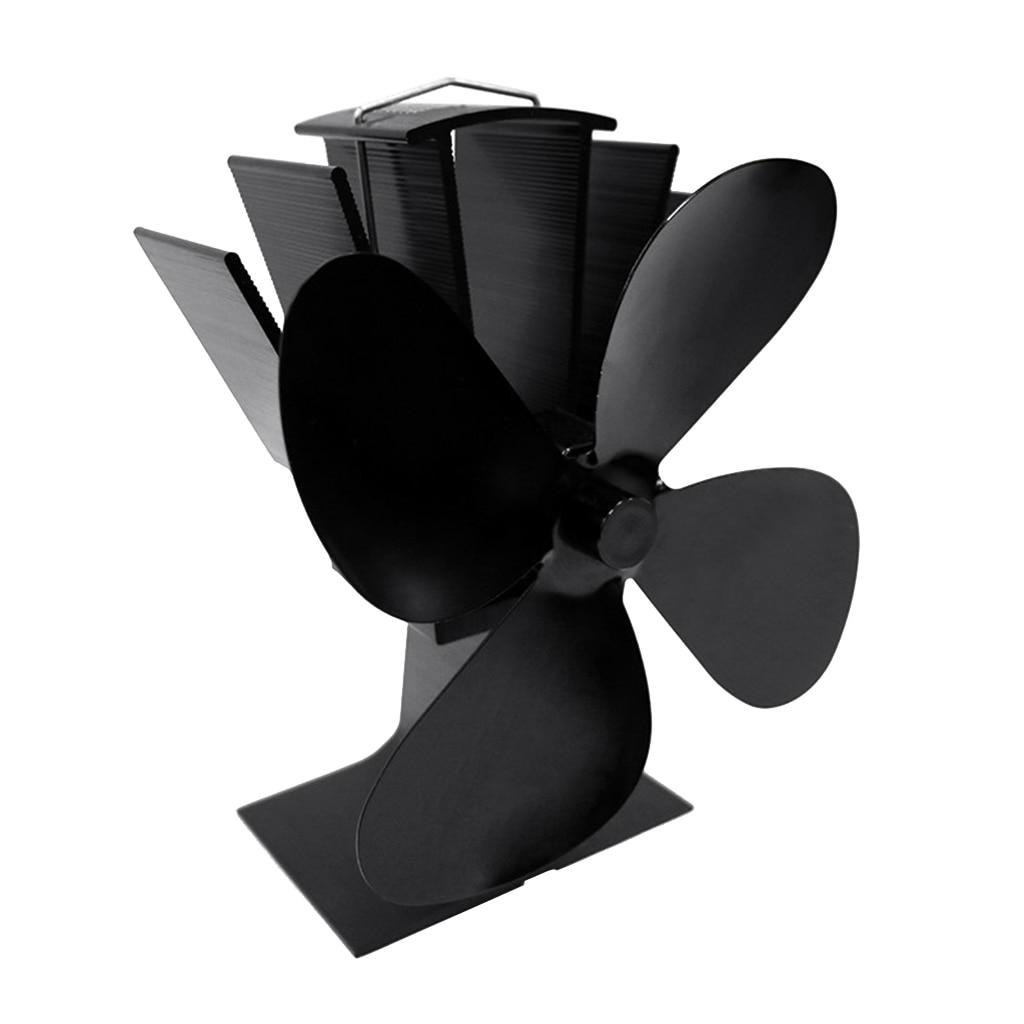 4 Blades Heat Self-Powered Stove Top Fan Aluminium Silent Eco-Friendly Fuel Saving For Wood Log Burner Fireplace Ecofan