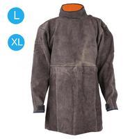 Wear Resisting Fireproof Retardant Welding Long Sleeve Cowhide Apron Safety Welder Work Protection