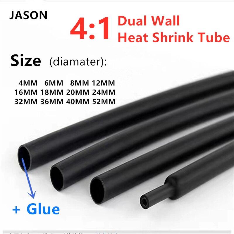 Waterproof Heat Shrink Tubing Sleeve Φ19.1mm Adhesive Lined 3:1 White x 1 Meters