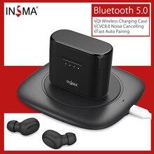 INSMA мини наушники-вкладыши TWS с In-ear bluetooth 5,0 спортивные наушники Hi-Fi стерео True Беспроводной бинауральные Поддержка QI Беспроводная зарядка ушн...