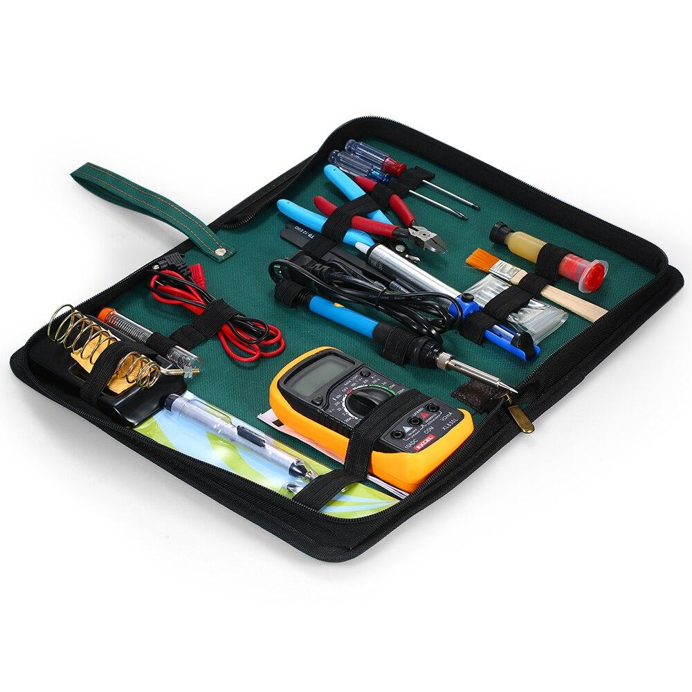 Professional 60W Electric Soldering Iron Kit Adjustable Temperature Welding Digital Multimeter Handmade Tool Set Soldering Kit