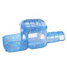 Kinder Zelt Ball Pool Spielhaus Kinder Gefaltet Spielen Zelte (Haus + Pool + Rohr) für Baby Spielzeug
