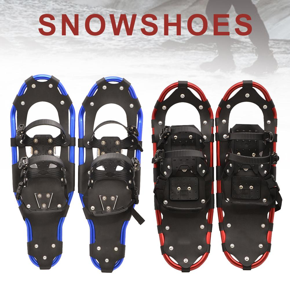 22, 25, 27 Inches Outdoor Snowshoes Aluminum Adjustable Straps Handbag Practical Durable For Male Female Outdoor Activities