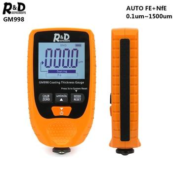 R & D GM998 車の塗装膜厚計車の塗装電気めっき金属コーティング厚さテスターメーター 0 1500um Fe & NFe オレンジ -