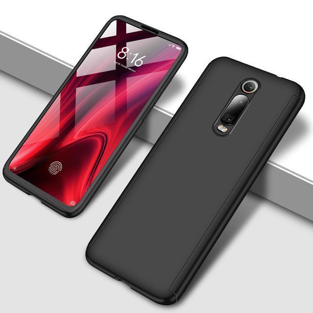 Противоударный 360 градусов чехол для телефона для Xiaomi Redmi Note 5 5A 6 7 8 Pro Полный Чехол для Redmi 7 7A K20 Pro Fundas Capa Coque - Цвет: Черный