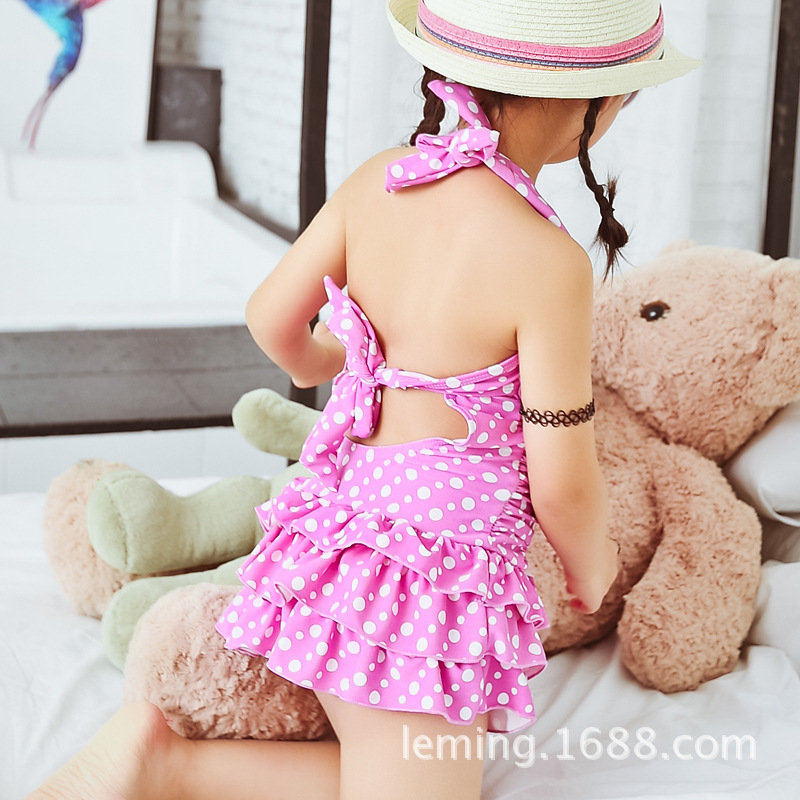 2018 Summer New Style KID'S Swimwear Cute Small CHILDREN'S Swimwear Princess Tour Bathing Suit CHILDREN'S Buoyancy Swimsuit