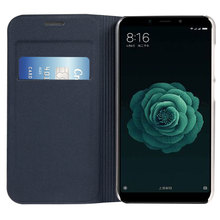 กระเป๋าสตางค์หนังสำหรับXiaomi Mi A2 6X Mi6X MiA2 2 6 X Xiami Xiaomi6X XiaomiA2 กระเป๋าบัตรเครดิตPochette