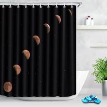 Black Space Planet Waterproof Bathroom Curtains Waterproof Mildewproof Bathtub Shower Curtain Polyester Fabric Shower Curtain christmas balls waterproof fabric shower curtain
