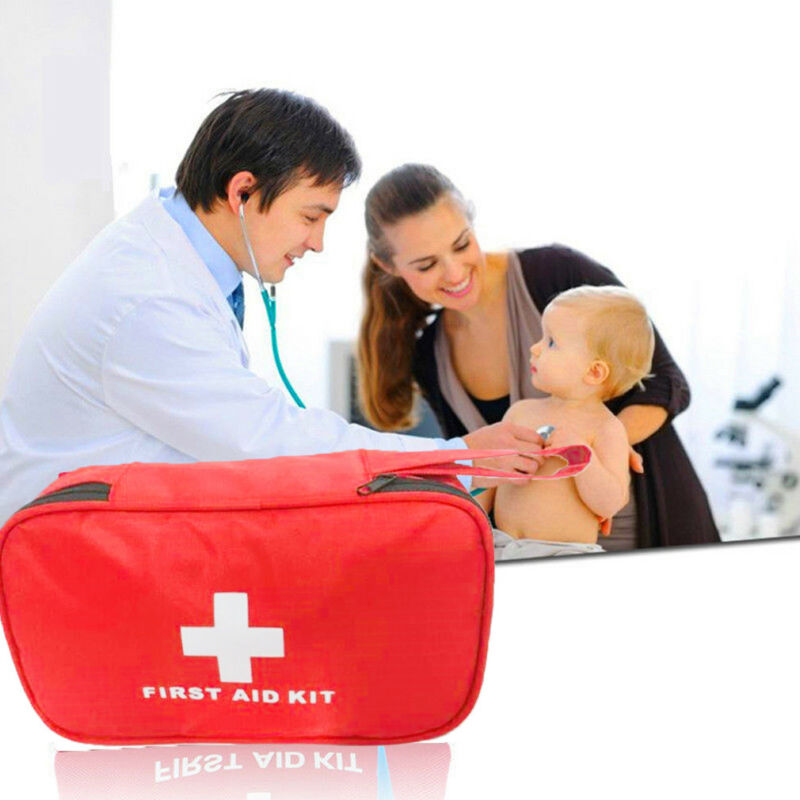 299 Pcs First Aid Energency Kit Camping Sport Travel Car Home Medical Bag Outdoor American Red Cross Guide Handbag