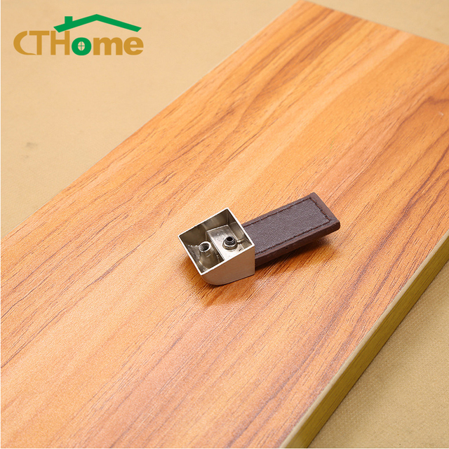 1PC Leather Handle Door Knob Pull For Furniture Cabinet Drawer Suitcase Hardware