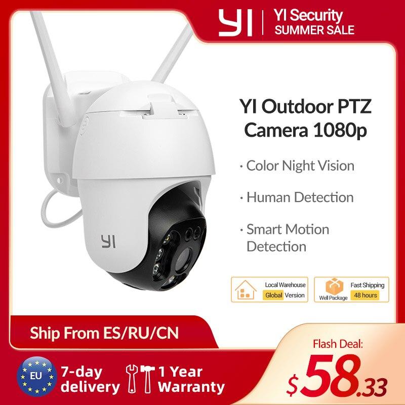 Уличная камера видеонаблюдения YI 1080P Outdoor PTZ, Wi-Fi/PoE, цифровой зум, автоматическое обнаружение людей, отслеживание движения, двусторонняя ауди...