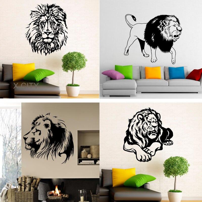 10 87 30 De Reduction 29 Dessins Lion Stickers Muraux En Vinyle Autocollants Africains Chat Sauvage Fierte Animaux Maison Design D Interieur Art