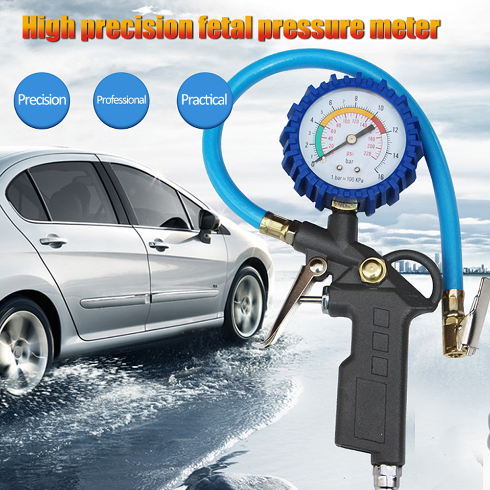 Tire Pressure Monitoring SystemTire Inflator With Pressure Gauge 220PSI Tire Gauge Inflator Air Compressor Accessories