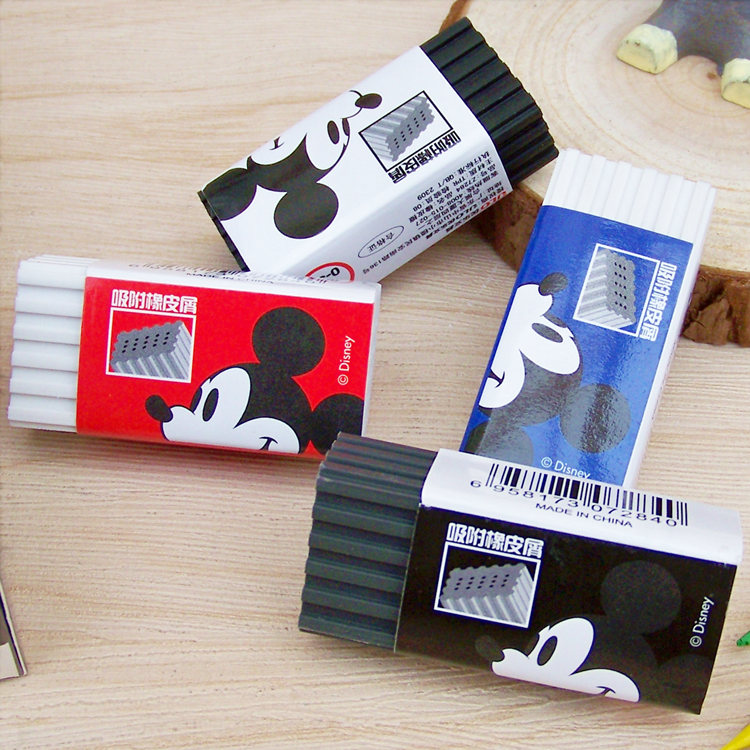 Disney Cute Cartoon Rubber Mickey Creative Multiple Colour Eraser Student School Supplies Kids Eraser