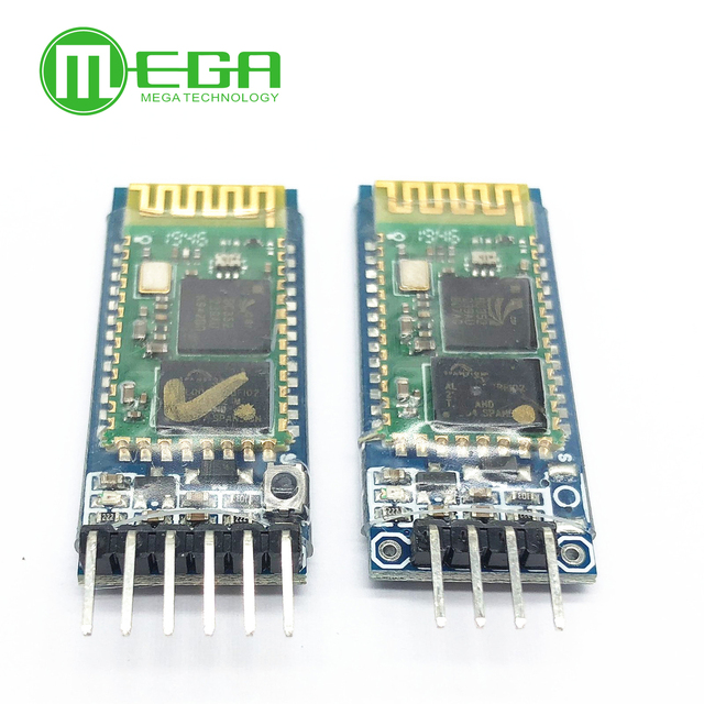 Original 50 unids/lote HC05 JY MCU anti reversa, módulo de paso serial Bluetooth integrado, HC 05 6 pines, HC 06 4 pines