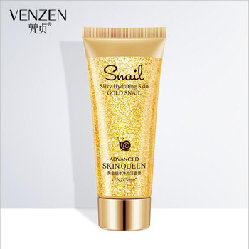 24K gold Snail Essence Cleansing Gel Deep Clean Shrink Pores Hydrating Whitening Moisturizing Cleanser 100g the little black pig carbonate bubbles clay mask deep clean and cleaning whitening hydrating