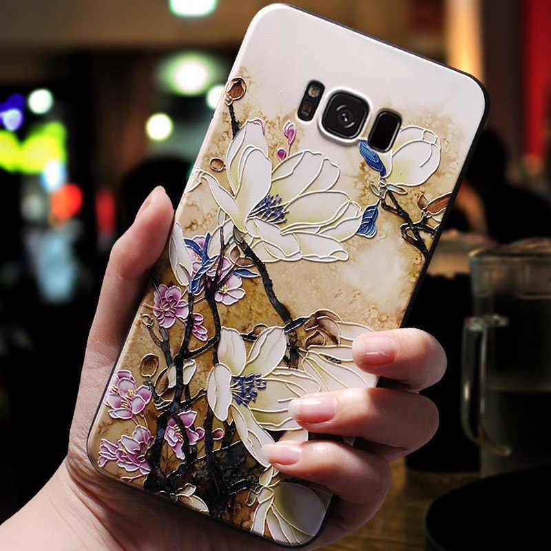Para samsung j7 2017 caso da ue 3d flor emboss silicone casos de telefone para samsung galaxy j5 2017/j3 2017 capa macia j7 j5 pro