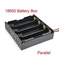 Caja de almacenamiento para banco de energía, caja de batería 18650, paralelo, 4, 18650, 18650