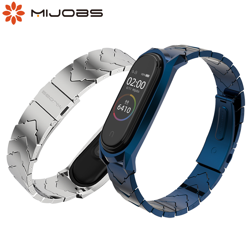 Strap For Xiaomi Mi Band 4 3 Metal Wristbands Stainless Steel Bracelet For Mi Band 4 Strap Correa Miband 3 Wrist Bands Pulsera