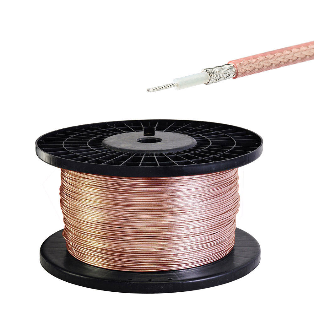 1M RF Coaxial 50 Ohm Cable RG316 High Temperature High Frequency Wire For Silver-plated Wire DC0-6GHZ