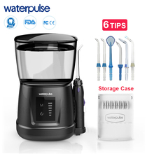 Waterpulse V700P With 8pcs Jet Tips 1000ml Capacity Water Dental Oral Flosser Oral Irrigator Traveler Floss Portable Flosser