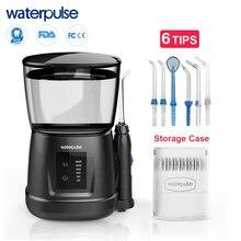 Waterpulse v700p com 8 pçs dicas de jato 1000ml capacidade água dental oral flosser irrigador viajante flosser flosser portátil
