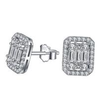 TSHOU105  TIFF 925 women square  sterling silver earrings  christmas gifts for women