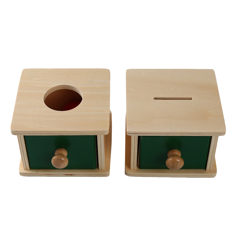 Montessori Kids Toy Baby Wooden Coin Box Ball Box Learning Educational Preschool Training Baby Early Learning Toy