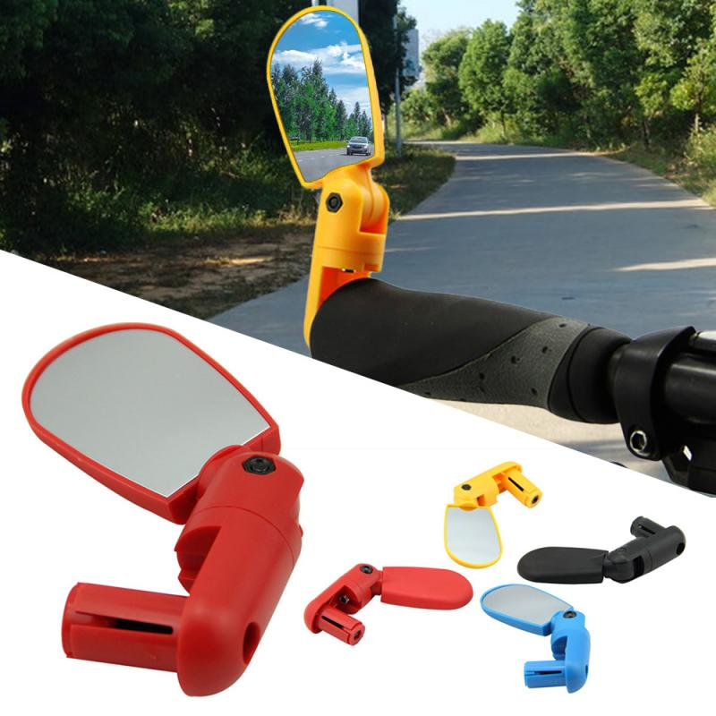 Bike Rearview Mirror Bicycle Accessories Cycling Road Mountain Bike Handlebar Wide Angle Rear Rotate View Mirrors