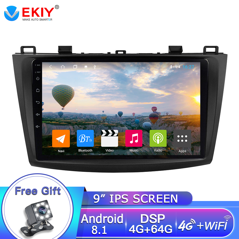 EKIY 9'' 2 DIN IPS Car Radio For Mazda 3 2009-2013 android 8.1 Car DVD GPS Radio Stereo 4G+64G OCTA Core Car Multimedia Player image