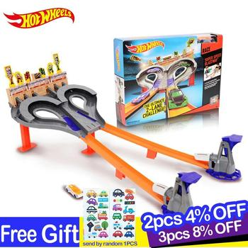 hot wheels 2018 track car model Toy Kids Toys Plastic Metal Miniatures Cars Toys  Machines For Kids Brinquedos Educativo 1:43 hotwheels roundabout track toy kids cars toys plastic metal mini hotwheels cars machines for kids educational car toy