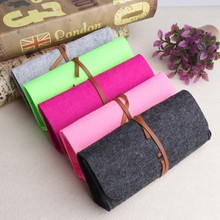 Felt Sunglasses Bags Cases Portable Soft Glasses Package Accessories Belt Closure(China)
