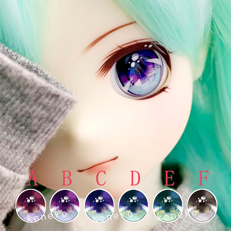 BJD Eyes Metallic Effect 2D Doll Eyes 10mm-12m-22mm Diameter For 1/8 1/6 1/4 1/3 BJD SD DD Doll Accessorie With Bubble Shape Eye
