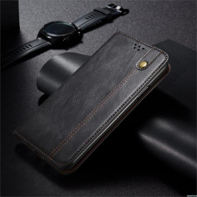 For Xiaomi POCO M3 Oil wax Leather Phone Case Xiaomi POCO X3 NFC Luxury Retro Leather Bag Wallet Card Stand Magnetic Cover