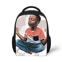 "12"" Cute Black Art African Boy Print Small Backpack Childr"