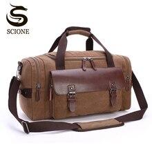 Высококачественная Мужская холщовая дорожная сумка для багажа Большая вместительная сумка через плечо спортивные сумки для путешествий женская сумка