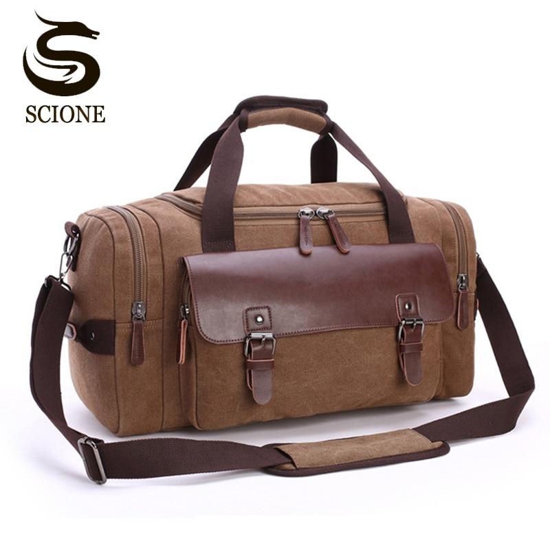 Высококачественная Мужская холщовая дорожная сумка для багажа Большая вместительная сумка через плечо спортивные сумки для путешествий женская сумка|Дорожные сумки|   | АлиЭкспресс