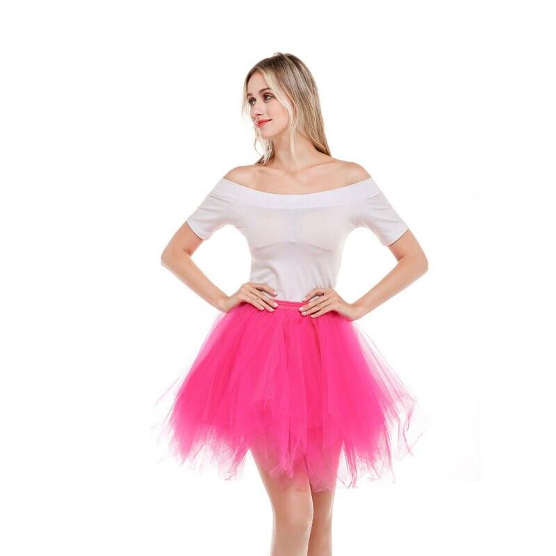 Brand New Women Princess Ballet High Waist Tutu Tulle Skirt Wedding Prom Dance Bouffant Solid Mesh Skirts Ball Gown