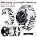 Общие 22 мм 20 мм ремешок из нержавеющей стали металлический ремешок для часов Ремешок для samsung Galaxy Watch 42 46 мм Шестерня S3 Смарт часы Quick Releas
