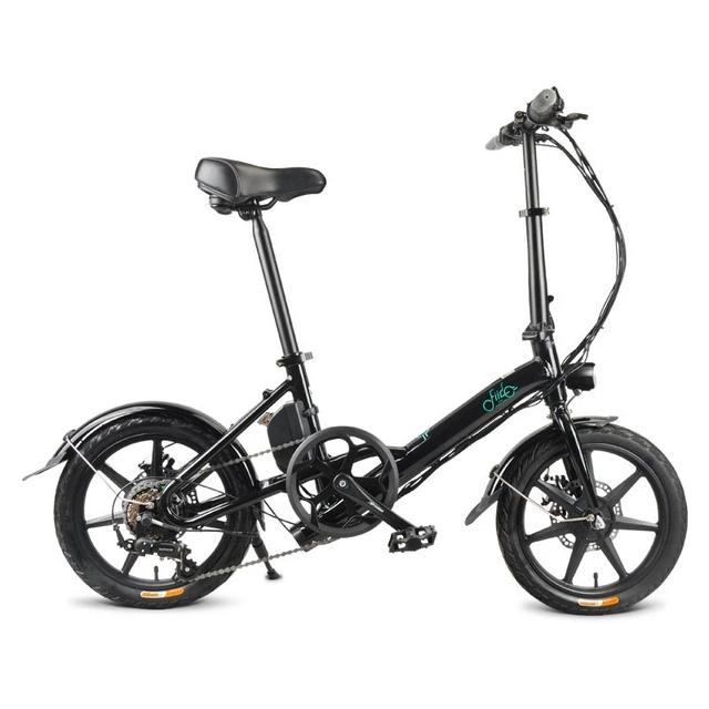 K1-007 FIIDO D3/D3S 14 Inches Folding Moped Bicycle 25km/h Max 50KM Mileage Mini Electric Bike 7.8Ah 36V 250W  [EU Direct]