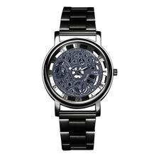 Горячая Распродажа Модные мужские Бизнес кварцевые часы серебро