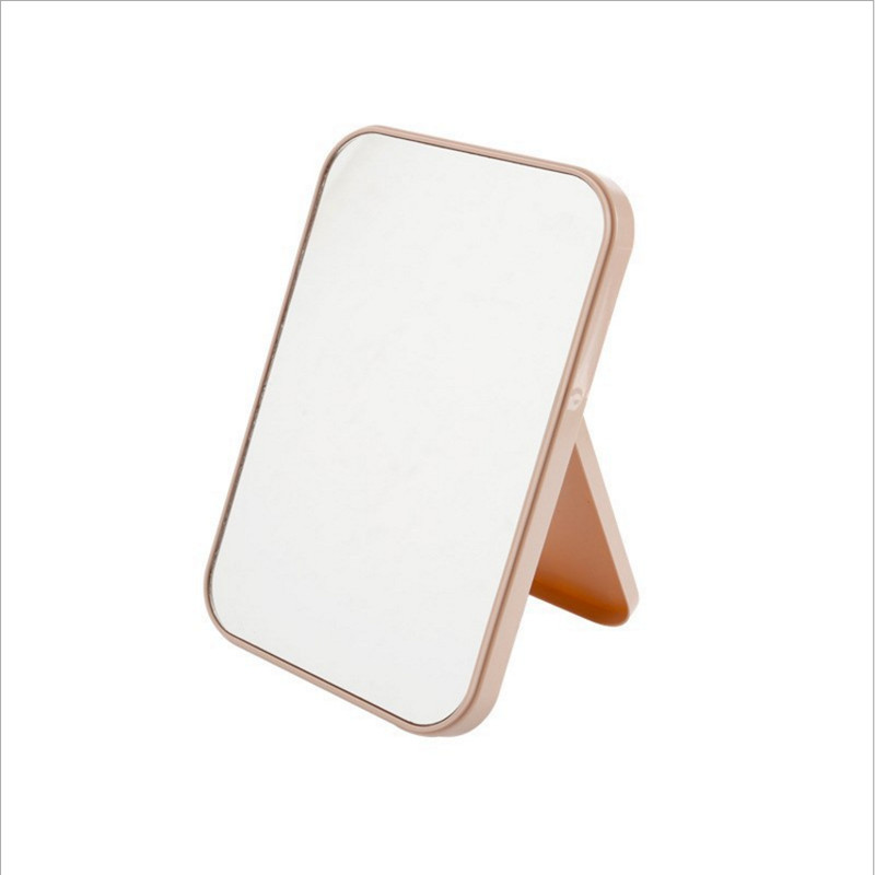 Colorful Desktop Folding Vanity Mirror Square Compact Makeup Vanity Standing
