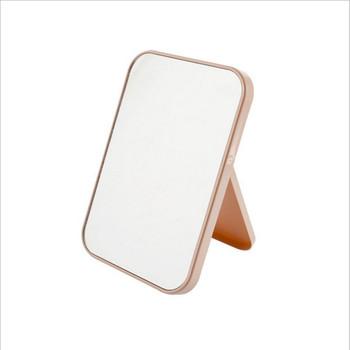 Kolorowe pulpit składane lustro kosmetyczne kwadratowy kompaktowy makijaż Vanity stojący tanie i dobre opinie Nie posiada plastic Lustro do makijażu 19 5*11 5*9 5cm Powiększające MM09