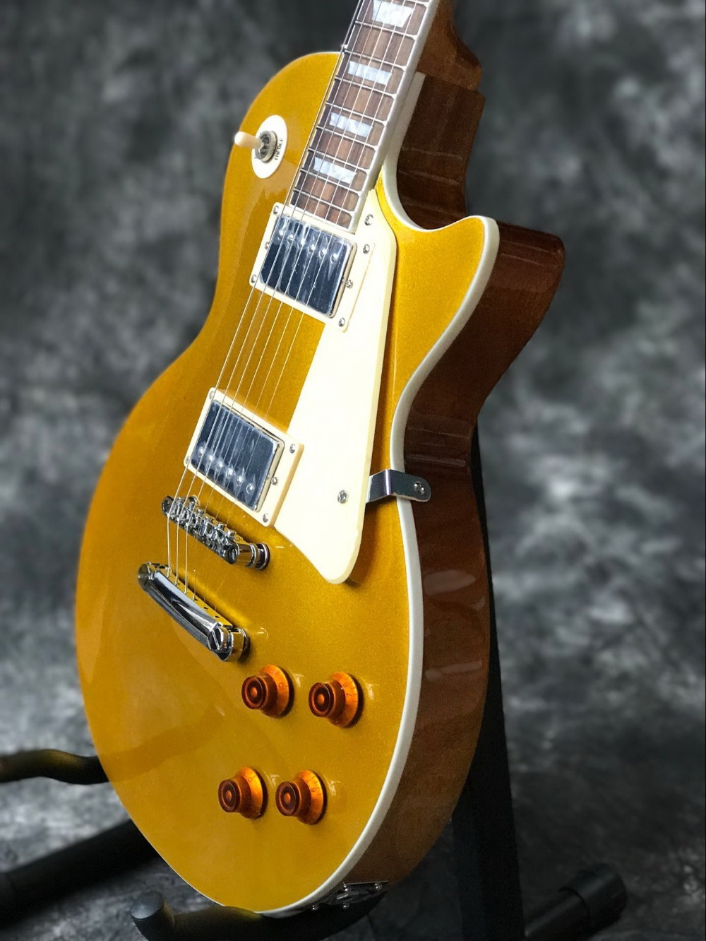 Classic Custom gold top with Chrome hardware LP standard custom electric guitar Standard Chibson guitarra.musical instruments.199 (1)