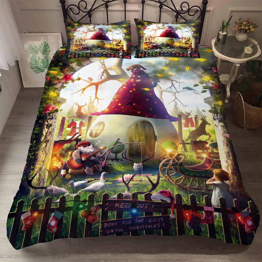 BEST.WENSDa19 Quality Super Soft Unicorn Bedding Cartoon Duvet Cover Set 3D Dinosaur World Bed Set 2/3pcs Twin Kids Bedding Set